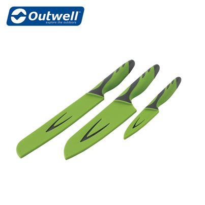 Outwell Outwell Knife Set in Grey & Green