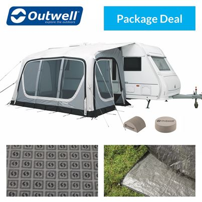 Outwell Outwell Pebble 420A Caravan Awning Package Deal