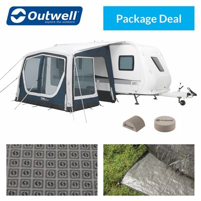 Outwell Outwell Ripple 320SA Caravan Awning Package Deal