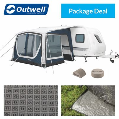 Outwell Outwell Tide 320SA Caravan Awning Package Deal