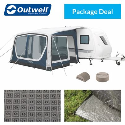 Outwell Outwell Tide 380SA Caravan Awning Package Deal