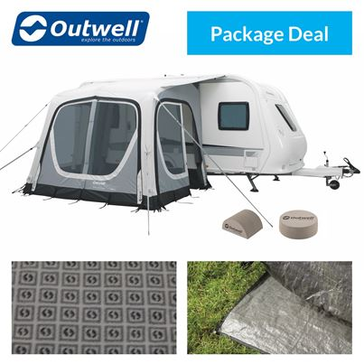 Outwell Outwell Pebble 300A Caravan Awning Package Deal