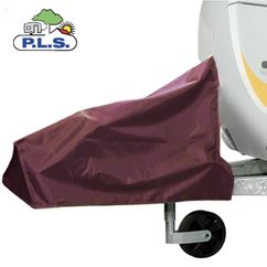 PLS Extra Large Burgundy Caravan Hitch Cover