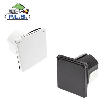 Pennine Flush Fitting Mains Inlet Socket White or Black
