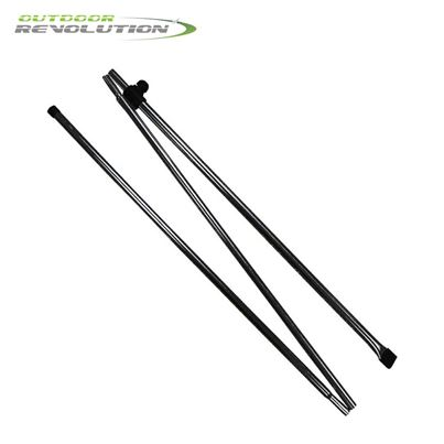 Outdoor Revolution Outdoor Revolution 2 x Adjustable Awning Steel Pad Poles