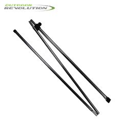 Outdoor Revolution 2 x Adjustable Awning Steel Pad Poles
