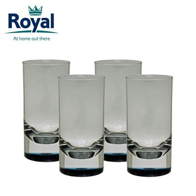 Royal Royal Pack of 4 Smoked Acrylic Tumblers