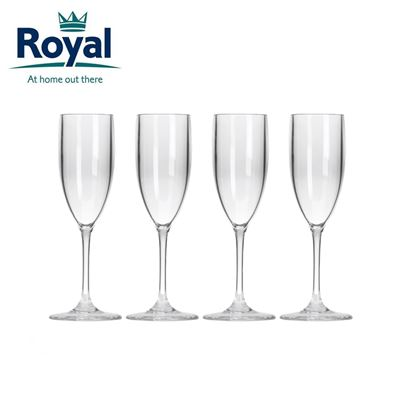 Royal Royal Pack of 4 Prosecco Flutes