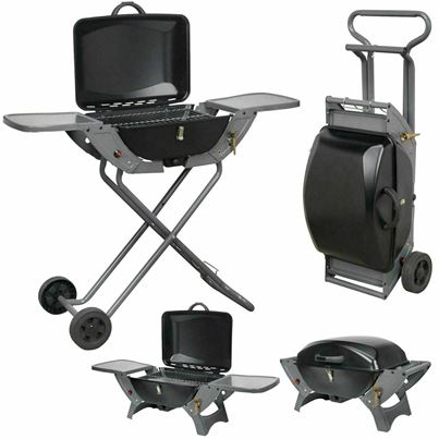 Crusader Crusader Portable Folding Gas Trolley Barbecue