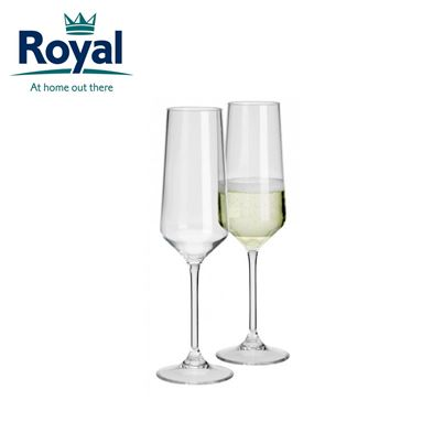 Royal Savoy Polycarbonate Champagne Camping Glasses