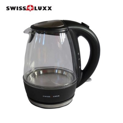 Swiss Luxx Swiss Luxx Clear 1L Clear Glass Kettle