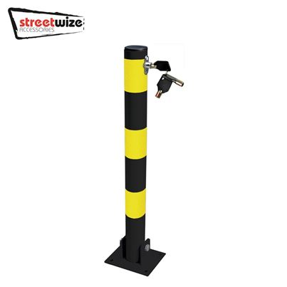 Streetwize Heavy Duty Folding Round Parking Post